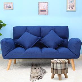 懒人沙发单人折叠沙发床布艺休闲小户型卧室阳台双人榻榻米小沙发