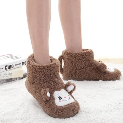 冬天家居棉拖鞋情侣包跟女韩版冬季毛毛可爱厚底室内产后月子棉鞋