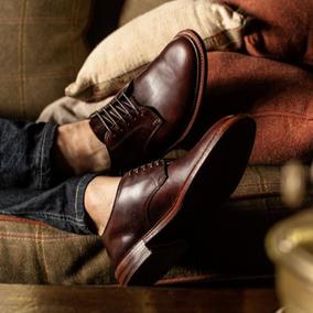 玩累了的孩子!德比鞋固特异商务休闲复古Country手工男士真皮鞋