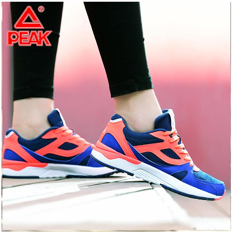 匹克女鞋跑步鞋秋冬女子休闲鞋复古阿甘鞋跑鞋网面运动鞋DE710002