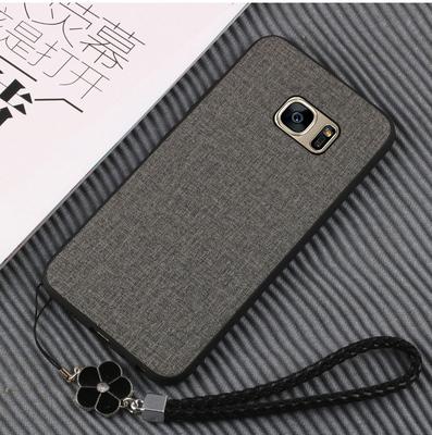 三星S7手机壳note8 S7 Edge手机保护套软壳 贴皮硅胶全包边男女款