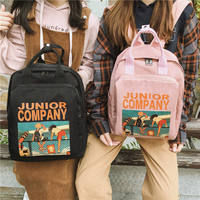Schoolgirl Korean version of the winter Harajuku ulzzang high school student backpack wild retro girl heart backpack