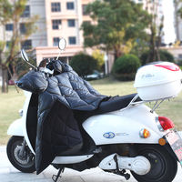 Electric car windshield by winter battery car windshield leather PU warm thickening motorcycle windproof leggings