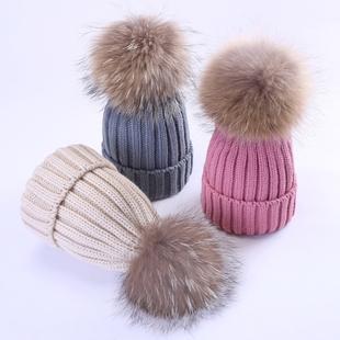 宝宝毛线球帽子