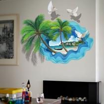 立体墙贴画客厅卧室温馨房间墙面贴花装饰防水贴纸自粘墙纸3d创意