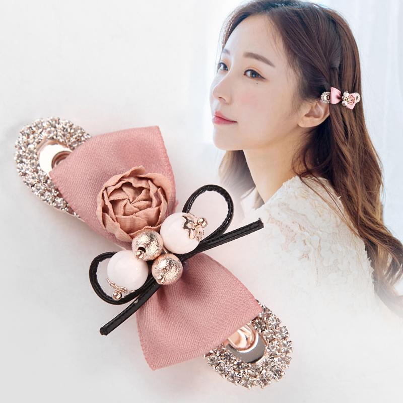 韩版发夹边夹甜美清新花朵蝴蝶.