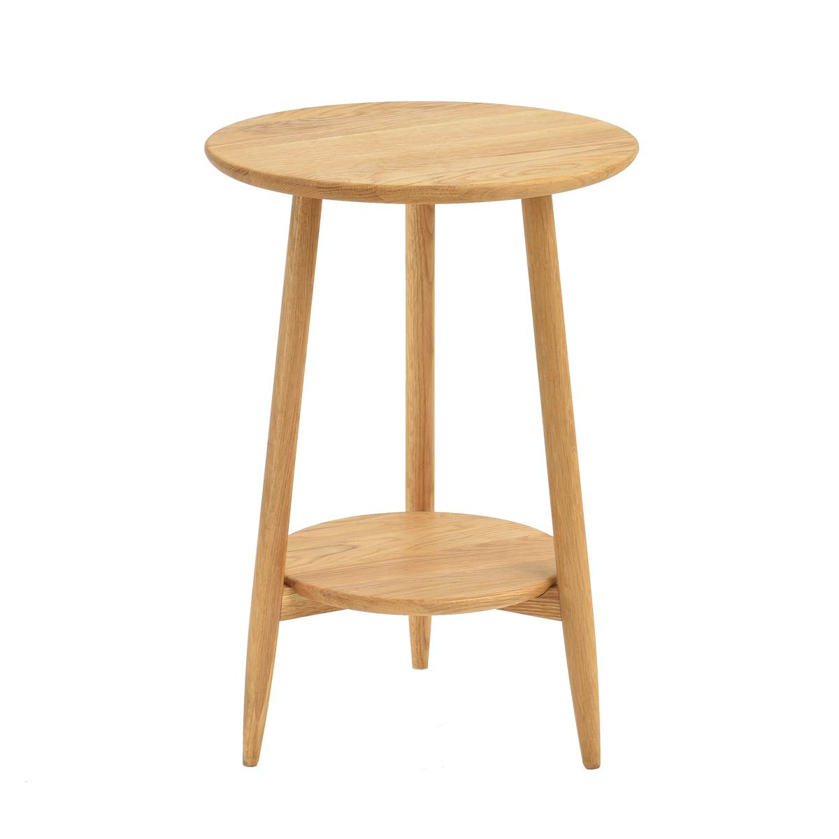 积木部落 实木小茶几简约圆形边几迷你小桌子客厅角几北欧小圆桌