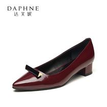 LB901CQ6通勤套脚尖头女鞋OL妙丽羊皮坡跟单鞋smillie