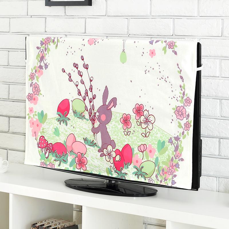 布艺65寸电视机盖布电视罩防尘罩55英寸50液晶电视机罩挂式43欧式