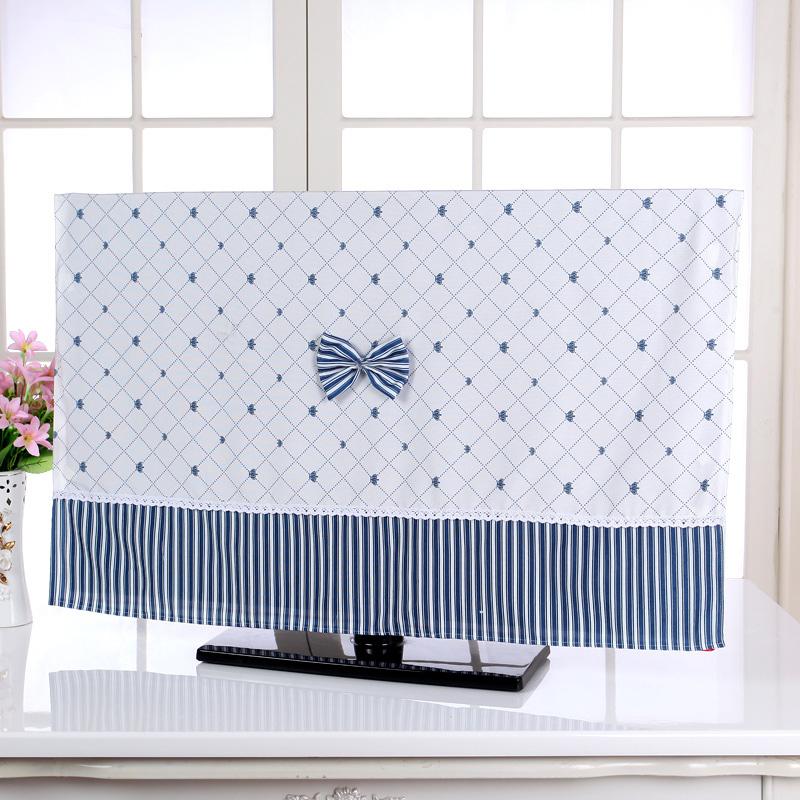 温恋 挂式电视机罩布艺液晶电视机防尘套电视机罩蕾丝防尘罩55寸