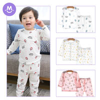 Baby home air conditioning clothes cotton thin section summer baby long-sleeved children's pajamas set boys and girls spring and autumn