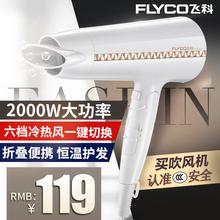飞科大功率吹风机家用发廊电吹风FH6228负离子冷热风吹风筒可折叠