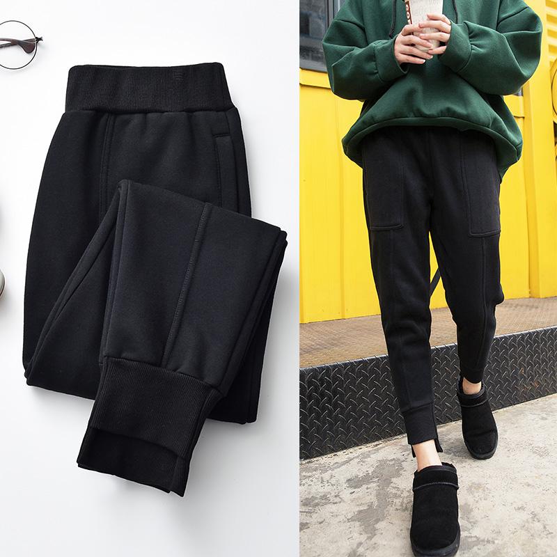 加绒哈伦裤运动裤