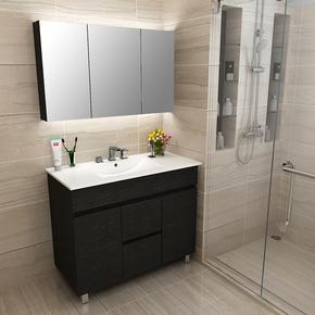 北欧浴室柜组合 现代简约卫生间洗漱台洗手台洗脸盆柜组合落地式