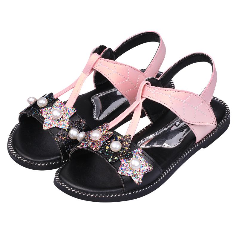 女童凉鞋2019新款韩版夏季时尚儿童凉鞋女小女孩凉鞋宝宝公主鞋潮