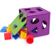 Geometric shape color cognition pairing blocks children early education educational toys baby six-sided box graphic multifunction