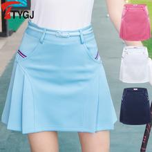 送腰带 夏秋季高尔夫裙子夏韩版运动网球裙百褶半裙防走光短裙