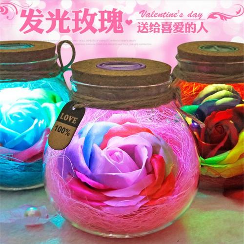 特别浪漫的女生日礼物送女友朋友闺蜜实用香皂玫瑰花束礼盒送老婆