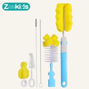 海绵刷子奶瓶刷尼龙吸管刷奶嘴刷婴儿奶瓶清洁刷杯刷奶瓶夹晾干架