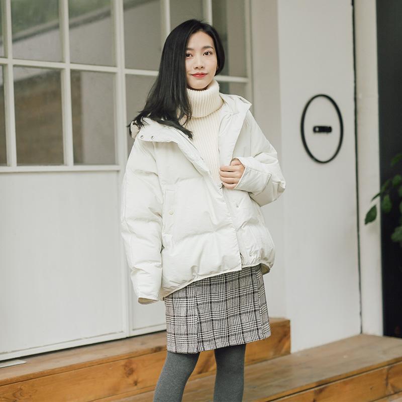 【可领券】2017冬新款连帽加厚棉服女短款韩版bf原宿风学生面包服小棉袄外套