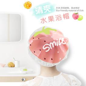 可爱水果卡通洗澡浴帽批发 防水沐浴帽 洗头帽防油烟帽