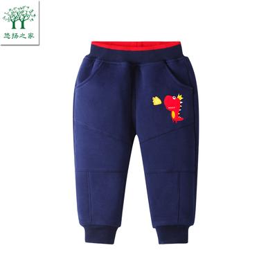 男宝宝加绒加厚棉裤一2两三3四岁儿童冬装裤子冬装男童秋冬款长裤