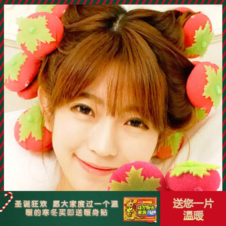 卷头发的海绵卷发球草莓卷发器不伤发做头发的发卷家用睡眠卷发器