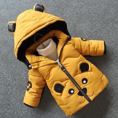 童装男童棉服2018新款小孩洋气羽绒棉衣宝宝冬装加厚外套小童儿童