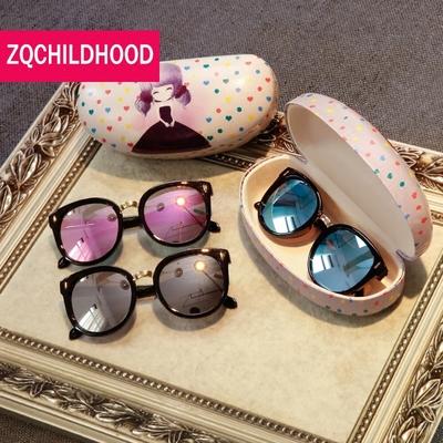 儿童太阳镜眼镜墨镜女男童宝宝1-3-8岁不伤眼睛的潮防紫外线个性