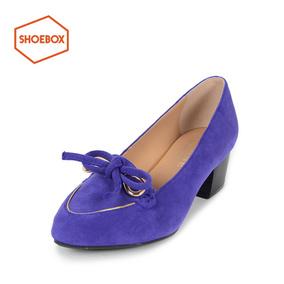 达芙妮旗下鞋柜低跟粗跟DAPHNE for ShoeBox  单鞋 2615404010