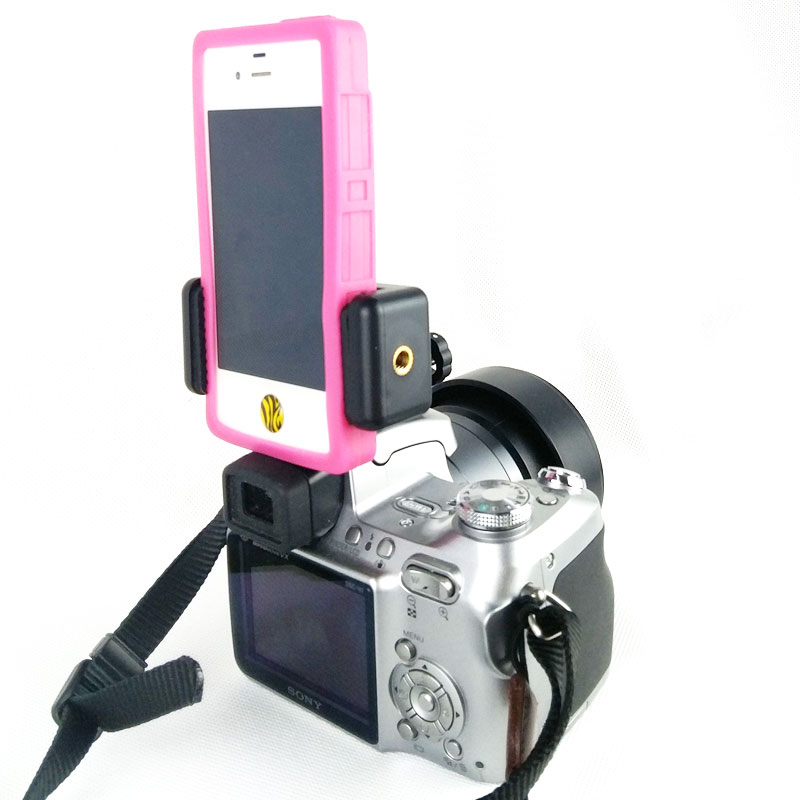 包邮球型1/4金属三脚架云台灯架单反相机热靴转接头送直播手机夹