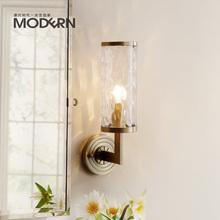 摩灯时代全铜壁灯美式客厅卧室床头过道现代简约北欧创意灯具