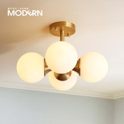 摩灯时代 美式吸顶灯 卧室阳台玄关走廊过道创意个性全铜墙壁灯