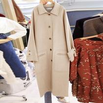 2018流行大衣女秋冬新款中长款大码呢子大衣斗篷羊毛呢外套女学生