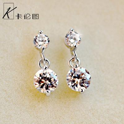 水晶钻石耳钉