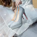 12厘米水晶高跟鞋