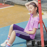 Girls summer short-sleeved T-shirt 2019 new big children's sports quick-drying T-shirt outdoor breathable quick-drying shirt thin section