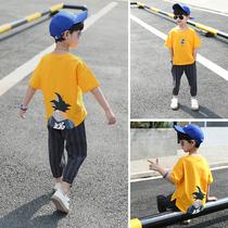 童装男童套装夏装2019新款儿童夏天运动夏款洋帅气韩版潮男孩衣服