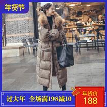 东大门棉服女中长款过膝冬2018新款宽松bf韩版ins面包棉衣厚外套