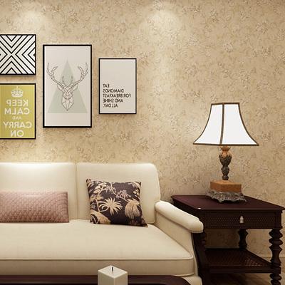 美式乡村墙纸无纺布复古怀旧卧室花纹壁纸田园风格温馨客厅环保强有实体店吗