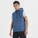 Skechers Skechers new men's woven vest sports and leisure hooded vest SMPF219M023