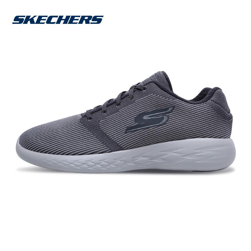Skechers斯凯奇男鞋新款轻质保暖跑鞋 编织网布跑步鞋运动鞋55019