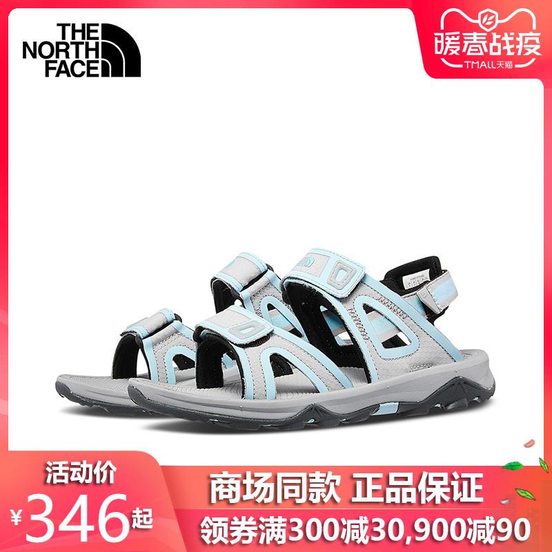 春夏款TheNorthFace北面凉鞋女户外运动抓地耐磨女鞋CXS5