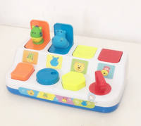 Pop-up toy peekaboo button box baby game box pusher switch box 1-3+ educational toys