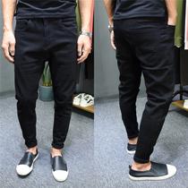 弹力青年男士小脚裤韩版修身小直筒长裤子春夏季青少年牛仔裤薄款