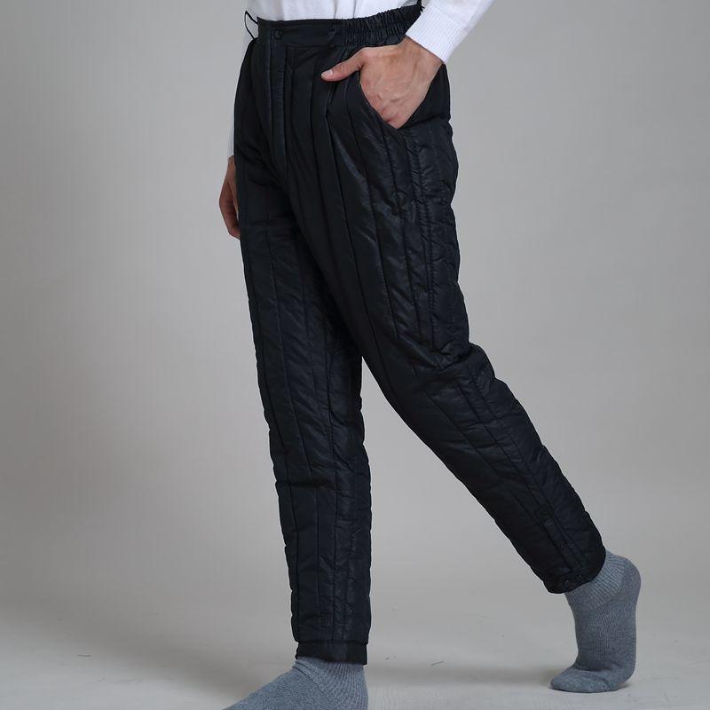 衫宣新款秋冬装男士打底棉裤保暖棉内胆长裤中老年棉服裤子中高腰