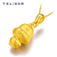 TSL Xie Ruilin Gold Zodiac Pendant 3D Hard Gold Foot Golden Zodiac Rattle Rabbit Rabbit Dragon Snake Horse Monkey Chicken Dog Pig