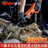 盛锐往复锯马刀锯骨头多功能木工家用迷你手持伐木电动锯子切割机