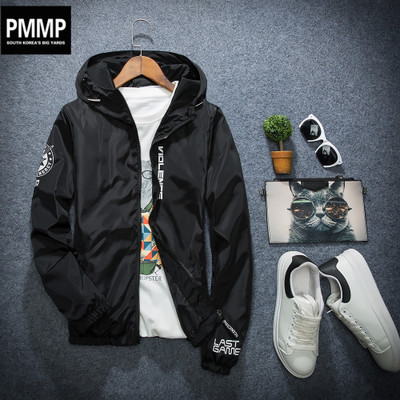 男士春秋新品外套韩版青年运动夏季夹克薄款休闲褂子潮流男孩外衣