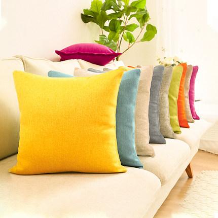 沙发抱枕芯椅子靠枕床头靠垫套北欧风格纯色抱枕客厅靠背枕套方形
